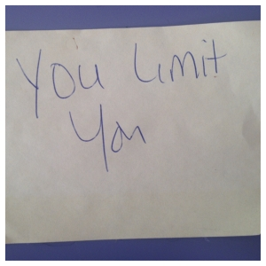 You Limit You post-it